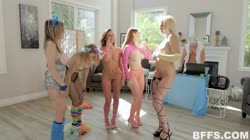 BFFS - sophia lux vanna bardot and scarlett snow techno titties