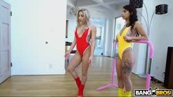 AssParade - Abella Danger, Gina Valentina - Two Big Asses Sharing A Big Cock