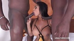 LegalPorno - First Time With Two Black Guys For Paola Murphy