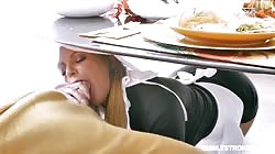 Familystrokes  Brooklyn Chase And Rosalyn Sphinx Thanksgiving Snatch Stuffing