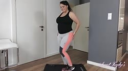 AuntJudys Devon Workout Routine And Pussy Play